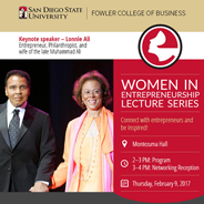 The Karen Castles Gray Women in Entrepreneurship Lecture aims to connect SDSU students with successful female entrepreneurs.