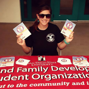 The SDSU Child and Family Development Student Organization meets at 3 p.m. every other Wednesday in the Metzli Room of the student union. (Credit: SDSU CFDSO)