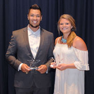 Arthur Flores and Alyssa Diacono were named the 2016 SDSU Student-Athletes of the Year. (Credit: GoAztecs)