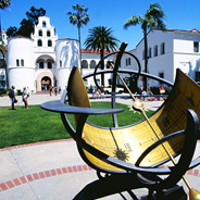 Hepner Hall and the George A. Koester Memorial Sundial. (Photo: Alan Decker)