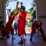 A durational dance takes place at Hepner Hall on SDSU