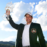 Former SDSU men's golfer Xander Schauffele captured the first PGA Tour title of his career after winning The Greenbrier Classic. (Credit: PGA Tour)