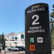 SDSU parking lots fill quickly during the first weeks of the semester.