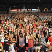 SDSU student section at Viejas Arena (Credit: GoAztecs)