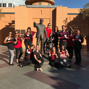 SDSU students at The Walt Disney Studios
