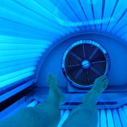 Ultraviolet light exposure through tanning is the leading environmental risk factor for developing skin cancer.