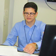 An SDSU student provides income tax assistance through the Volunteer Income Tax Assistance program.