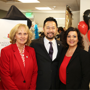 From left to right: SDSU President Sally Roush, Associate Vice President for Student Affairs Tony C. Chung