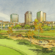 Rendering of the SDSU Mission Valley site