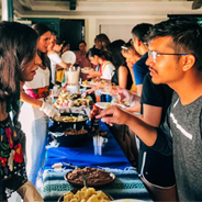 International Coffee Hour takes place every Friday beginning at noon in SDSU
