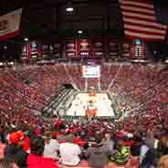 Viejas Arena during an SDSU men