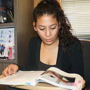 Communication Major Daniella Tafoya studies in SDSU