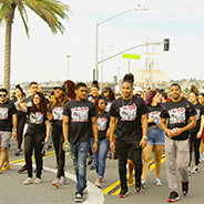 Students, faculty, staff and alumni represent SDSU in Martin Luther King Jr. Day Parade.