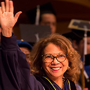 Mildred García at Cal State Fullerton (2017)