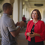 Campus and community invited to SDSU President Adela de la Torre