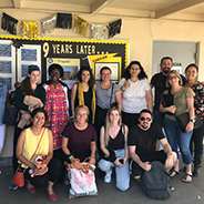 Swiss students visited the K-8 Language Academy near SDSU during a week in San Diego.