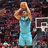 SDSU forward Matt Michell wears the Nike N7 turquoise jersey during a 2018 game against Jackson State. (Photo: GoAztecs)