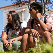 Students in front of the Conrad Prebys Aztec Student Union