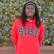 SDSU freshman criminal justice major and Guardian Scholar Ikemba Dyke
