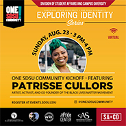 SDSU to host Patrisse Cullors for a discussion on the Black Lives Matter movement.