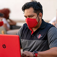 A facial covering mandate was issued for all those on campus.