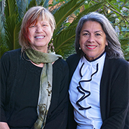 Sue Gonda (left) and Olivia Puentes-Reynolds (2019 photo).