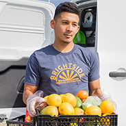 BrightSide Produce delivers fresh fruits and vegetables to stores located in underserved communities. (Photo: Fowler College of Business)