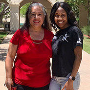 Theresa Garcia (left) and Jamilla Thomas