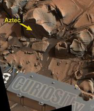 "The Mars rock ""Aztec"""