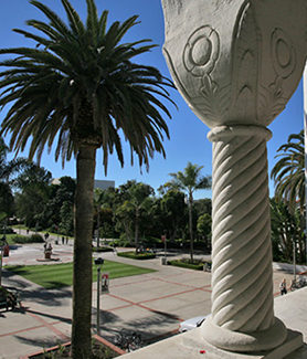 View from Hepner Hall