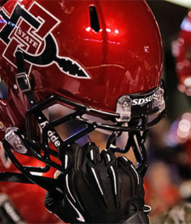 Aztec football helmet