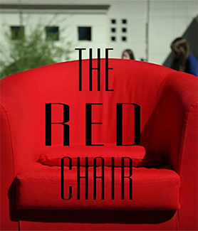 Red chair at SDSU