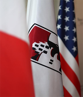 SDSU and Georgia flag
