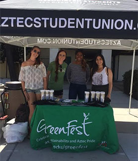 Students at Greenfest