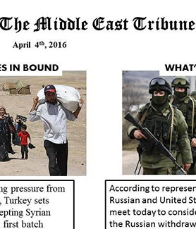 Middle East Tribune simulation