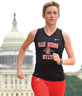 Aztec runner Ellison Grove has an internship in Washington, D.C. this summer