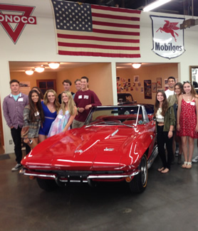 Aztec parents Mary and Tony Podell hosted the 2015 Los Angeles Regional Student Send-off at their vintage car facility.