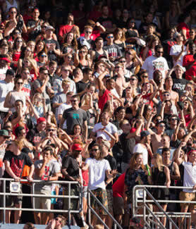 Aztec fans flock to Qualcomm Stadium each year for Fan Fest.