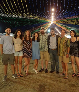 The three SDSU students studied abroad at Tiradentes University in Brazil this summer. (Photo: Ariella Goldstein)
