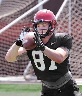 Football player Aaron Boesch, ('16), found his Aztecs Going Pro experience to be invaluable. (Photo: Ernie Anderson)