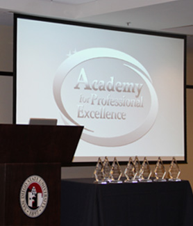 The Academy for Professional Excellence provides workforce development and organizational support to the health and human services community in a variety of areas.
