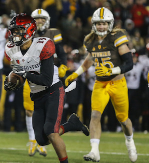 Donnel Pumphrey added 110 yards in his quest to become college football