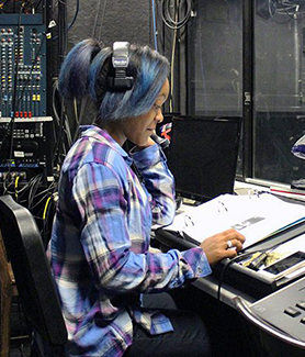 Beonica Bullard worked on several SDSU productions as a stage manager. (Photo: Christian Hicks/The Daily Aztec)