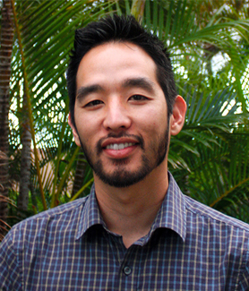 SDSU biologist Nicholas Shikuma studies the life cycles of sea creatures and their interaction with bacteria in the water.