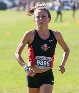 SDSU senior Christine Kent boasts a 4.0 grade point average in nutritional sciences. (Photo: Derrick Tuskan)