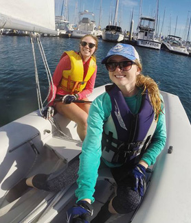 The Sailing Team at SDSU practices from 12 to 3 p.m. every Wednesday and Saturday at Southwestern Yacht Club. (Credit: Sailing Team)