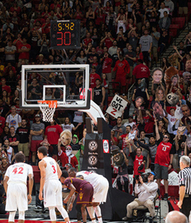 SDSU's average home attendance ranked first in the Mountain West Conference this season. (Credit: GoAztecs)
