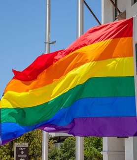 The 10th annual Rainbow Flag Raising Ceremony at SDSU