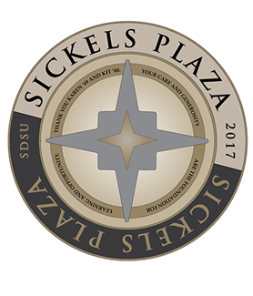Rendering of the Sickels Plaza medallion
