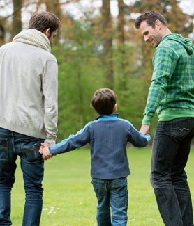 An estimated six million children and adults in the United States have an LGB parent. (Credit: Huffington Post)